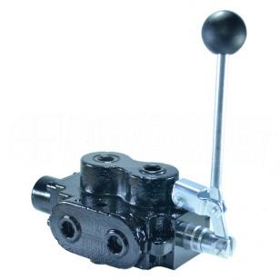20 GPM Válvula Hidráulica de desviador de selector giratorio 3 Fuentes #8 puertos SAE 5000 PSI